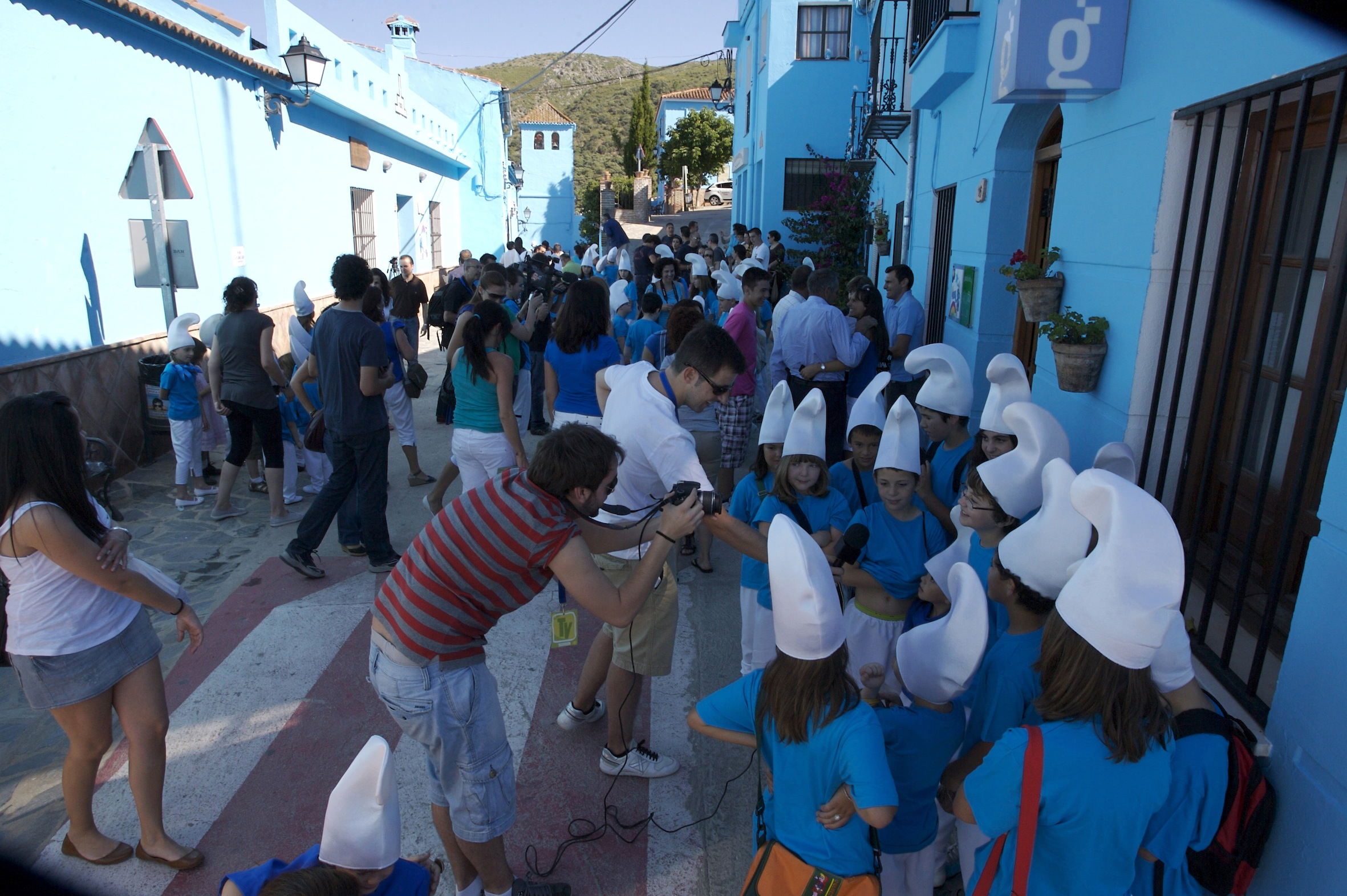 "Madrid, SPAIN - June 16, 2011: ""The Smurfs Village in Spain"""